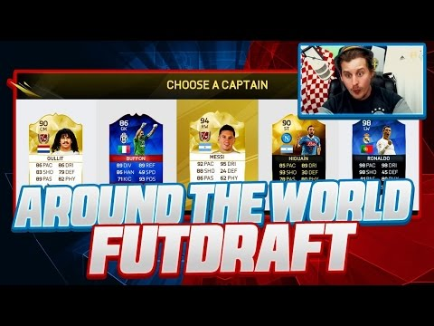 THE RONALDO AND MESSI AROUND THE WORLD FUT DRAFT CHALLENGE! FIFA 16 ULTIMATE TEAM