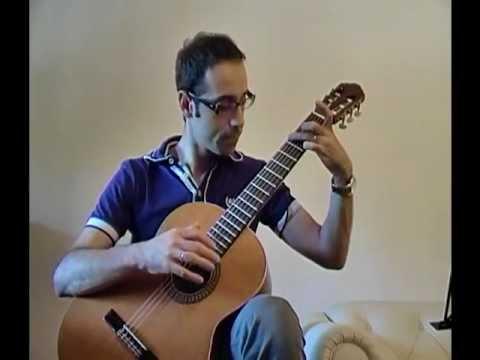 chitarra classica facile - easy classical guitar - Preludio, Francesco Molino, spartito fingering