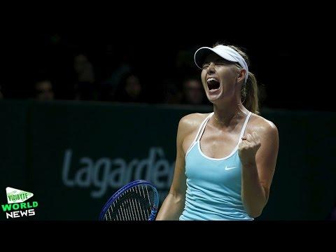 WTA Finals: Maria Sharapova Beats Simona Halep in Singapore