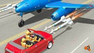 Beamng Drive - Aircraft Crashes #4, Me262  (plane crashes)