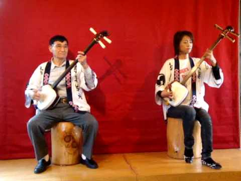 traditional music in japan - musique traditionnelle japonaise - hirosaki -shimasen