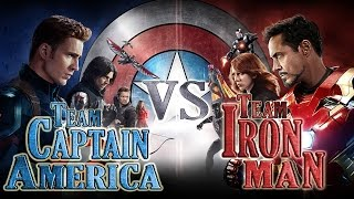 Team Captain America vs Team Iron Man