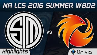 TSM vs P1 highlights Game 2 NA LCS 2016 Summer W8D2 Team Solo Mid vs Phoenix1