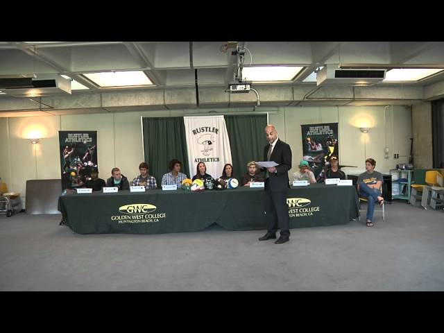 2012 Golden West College Athletics National Letter of Intent Signing Day Ceremony