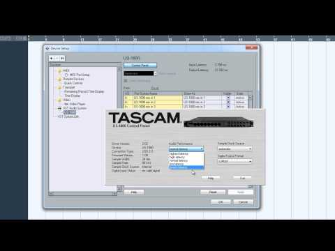 Cubase 5 Tutorial - How to Setup a Project with Tascam US-1800 Interface
