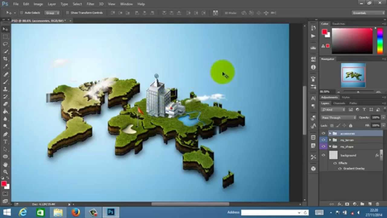 Photoshop Map Tutorial Tutorial 3d Maps Photoshop