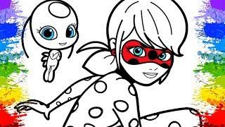 Desenhos de Pintar Tikki Miraculous Ladybug para Crianças | Desenho Animado | Video Pintura Infantil