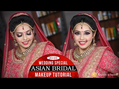Asian Wedding Bridal Makeup Tutorial | Quick & Easy Traditional Bridal Makeup | Krushhh by Konica