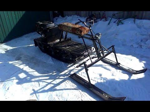 Мотобуксировщики своими руками с лыжным модулем 327