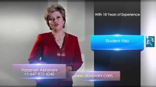 ویزای دانشجویی خانم ابروانی