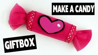 How to make a Candy GiftBox - Easy Crafts - simplekidscrafts - simplekidscrafts