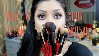 como limpiar tus brochas y pinceles / how to clean your makeup brushes by Analia Brizueña