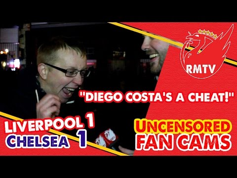 'Diego Costa's a cheat!' | Liverpool 1-1 Chelsea | Uncensored Fan Cams