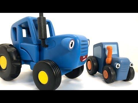 Синий трактор и овощи - Полезная история для детей про машинки как стать сильным