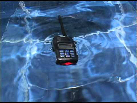 How the Icom IC-M23 floats and strobes!