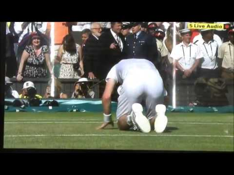 Andy Murray beats Novak Djokovic to win Wimbledon WINNING SHOT! (HD)
