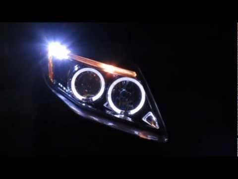 Farol Angel Eyes Toyota Corolla - COROLLA PROJECTOR HEAD LIGHTS