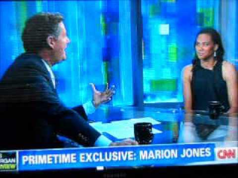 Marion Jones on Piers Morgan Tonight part three