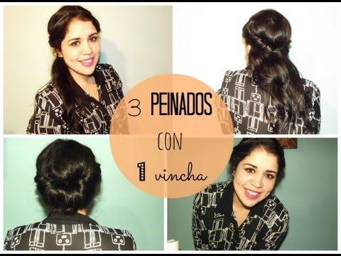 3 peinados con 1 vincha :)