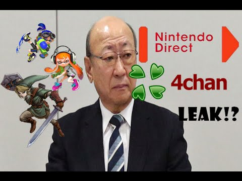 4chan Leak - Nintendo Direct November 12th!? Smash Bros DLC, Twilight Princess HD, Star Fox Zero