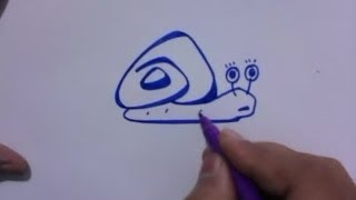 How to Draw Turbo Snail Cartoon Easy and Simple | YZArts | YZArts