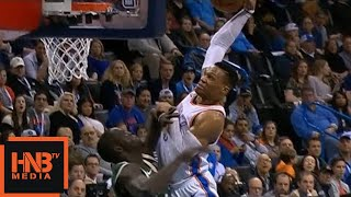 Russell Westbrook Crazy Dunk Over Thon Maker / Thunder vs Bucks