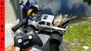 RC Car Catches Fish! HILARIOUS!