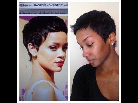 rihanna 2012 VMA short hair cut tutorial how to style