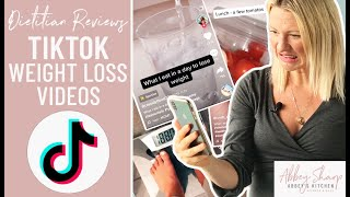 Dietitian Reviews TIKTOK Weight Loss and What I Eat In A Day Videos