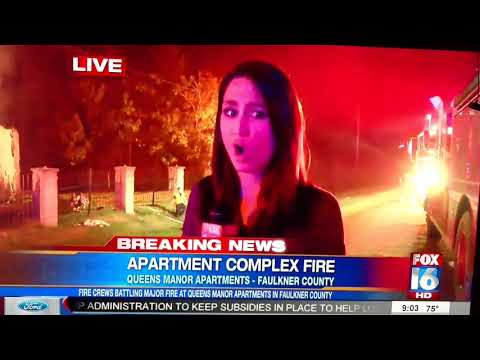 Queens Manor Apartment Fire in Mayflower, AR