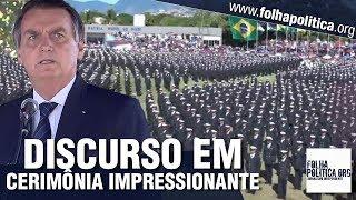 AGORA: Bolsonaro faz pronunciamento após participar de impressionante cerimônia da Marinha