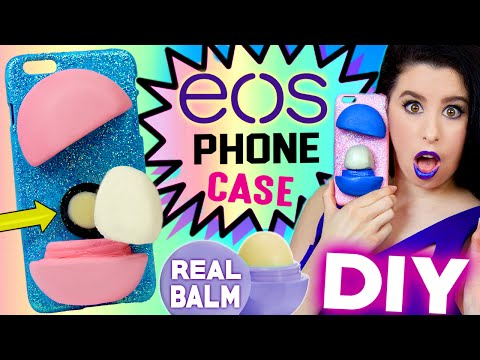 DIY EOS Phone Case! | With REAL EOS Lip Balm INSIDE! | How To Make The FIRST EOS iPhone Case!
