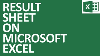 Result Sheet on MS Excel (Bangla)
