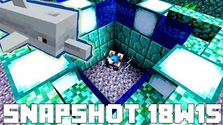 Minecraft 1.13 Snapshot 18w15a - NEW Conduits and DOLPHINS! Underwater Beacons! Blue Ice! 13.7 MB