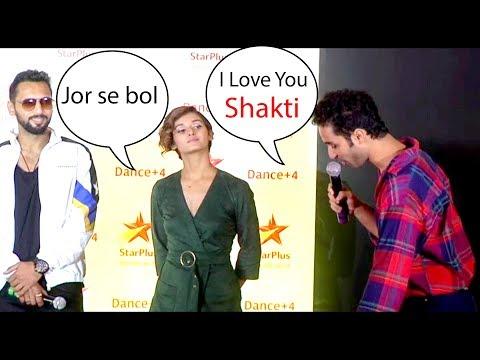 Raghav juyal continues flirting with shakti mohan at dance plus 4 Launch