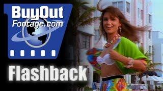 Flashback 1990s Miami Beach Lifestyle Stock Footage