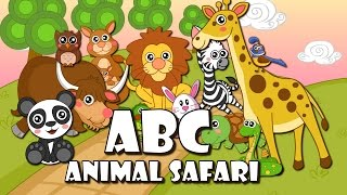 ABC Song - Animal Safari | BabyMoo