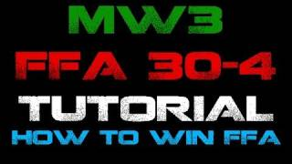 MW3 How to win a FFA match 30-4 (Commentary/Gameplay) [HD]