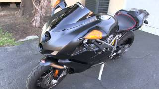 Matte Black Motorcycle Walk Around Video - DUCATI Superbike