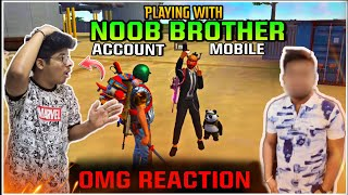 Free Fire || I PLAYED WITH NOOB BROTHER MOBILE || ENEMY GOT SHOCKED || Two Side Gamers live REACTION