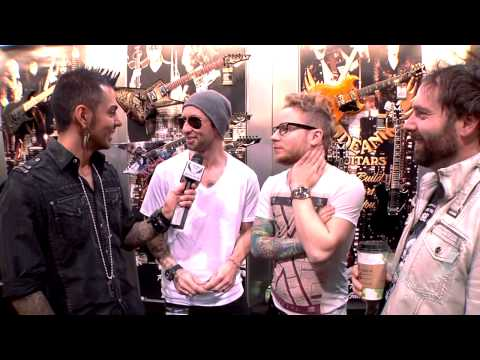 Dean Guitars Artist Eric Bass and Zach Myers of Shinedown Interview at 2013 NAMM.