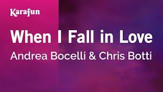 Karaoke When I Fall In Love Andrea Bocelli