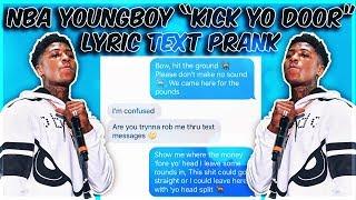 "NBA YOUNGBOY ""KICK YO DOOR"" LYRIC TEXT PRANK ON HIGH SCHOOL BULLY"