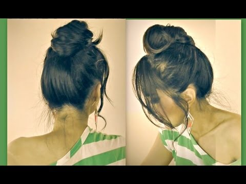 ★CUTE MUSTACHE MESSY BUN HAIRSTYLES FOR SHORT MEDIUM LONG HAIR TUTORIAL| HOW TO UPDOS FOR  SCHOOL
