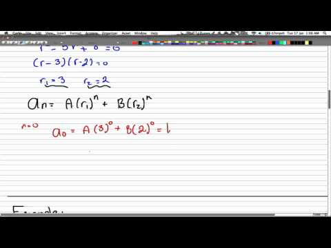 Discrete Math 2 - Tutorial 25 - Second Order Recur. Relation