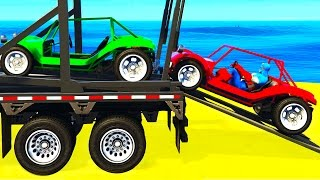 FUNNY SMALL CARS Transportation and Spiderman Cartoon for Kids & Colors for Toddlers Nursery Rhymes