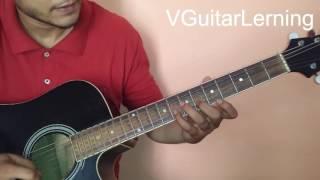 Tujhe Dekha Toh Yeh Jana Sanam Guitar Lesson | Lead Tutorial | VGuitarLearning