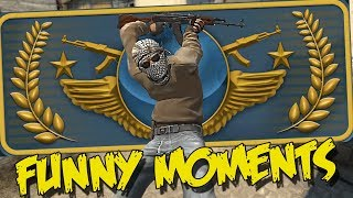 CS:GO FUNNY MOMENTS - THE WORST GLOBAL ELITE EVER, WALLHACK ENABLED