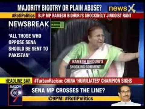 BJP MP Ramesh Bidhuri's shockingly jingoist rant