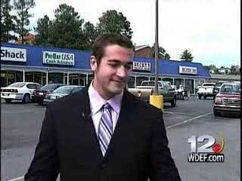 www.wdef.com Chattanooga Tennessee WDEF News 12 reporter Jason Law was the victim of a drive by muffin throwing. Law was recording a stand-up for a story he ...